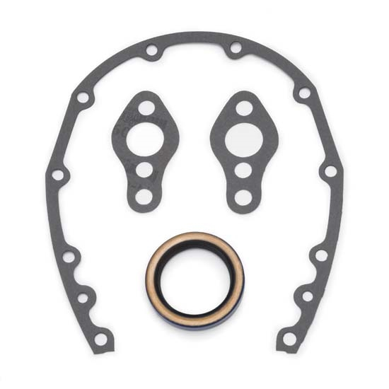 Edelbrock 6997 Replacement Timing Cover Gasket Set, Small Block Chevy