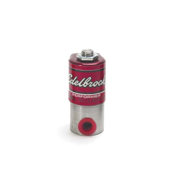 Edelbrock 72050 Victor Pro Nitrous Oxide Fuel Solenoid,Stainless Steel