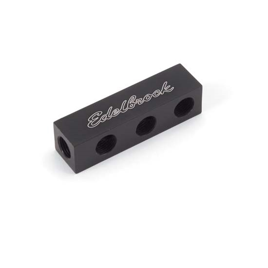 Edelbrock 76576 Nitrous Oxide Distribution Block, Black, 6 Outlets