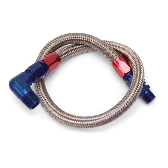 Edelbrock 8127 Stainless Steel Braided Fuel Lines, 27 Inch