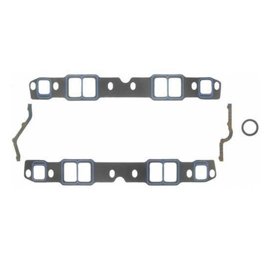 Fel-Pro 1244 S/B Chevy Intake Manifold Gaskets, 1.25x1.90 to 1.40x2.30