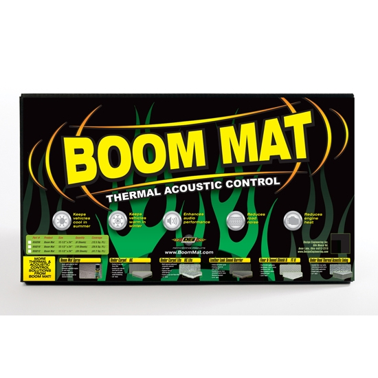 DEi 050200 Boom Mat Damping Material, 12 x 12-1/2 Inch, 2 Sheets