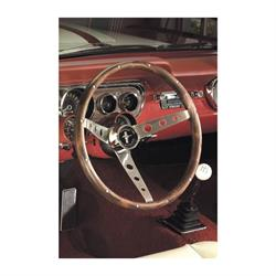 Grant 966 Classic Wood Steering Wheel w/ Mustang Horn Button, 15 Inch