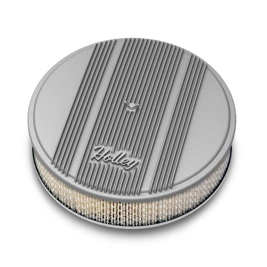 Holley Air Cleaner : Holley round raw finned air cleaner paper filter