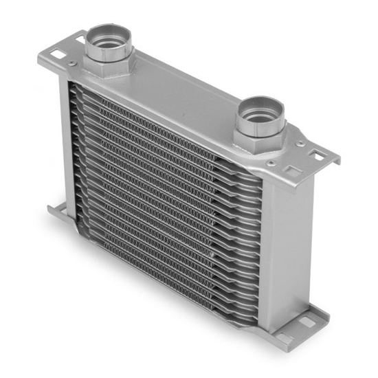 Earls 21600ERL 16 Row Oil Cooler Core, Gray