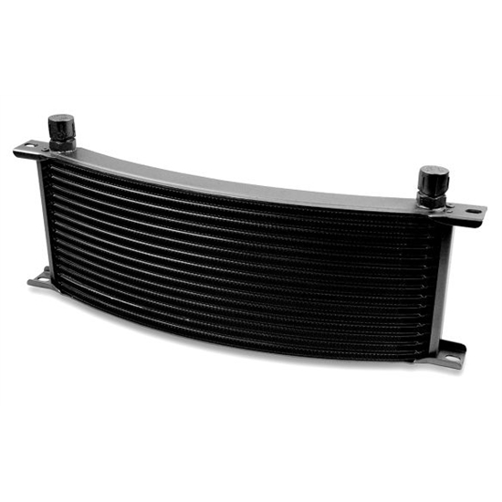 Earls 71608AERL Black -8 AN 16 Row Oil Cooler Core, Narrow