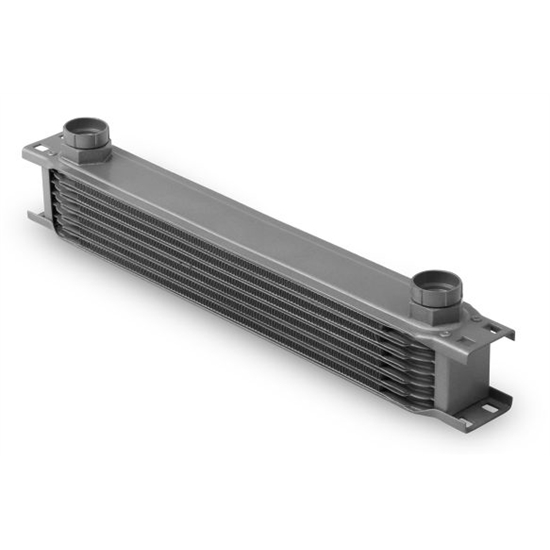 Earls 80700ERL Gray -10 AN 7 Row Oil Cooler, Extra Wide