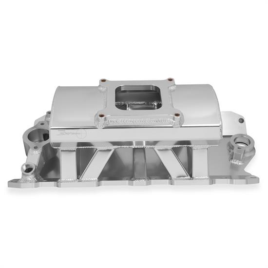 Holley Sniper 825011 Sheet Metal Intake Manifold, SBC, Silver