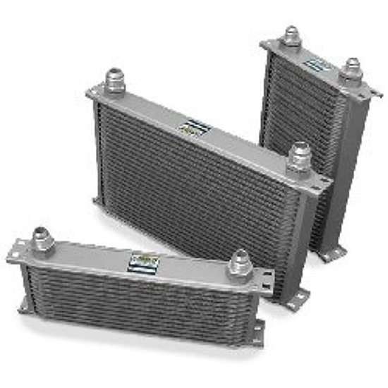 Earls 83400ERL Gray -10 AN 34 Row Oil Cooler, Extra Wide