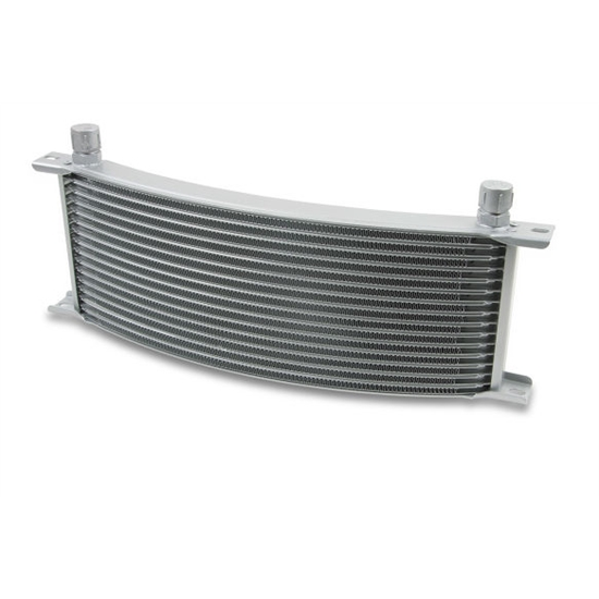 Earls 91608ERL 16 Row Oil Cooler Core, -8 AN Male Fitting, Gray Wide