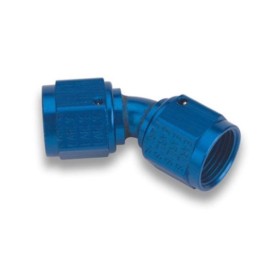 Earls 939212ERL Blue 45 Degree -12 AN Female to Female Swivel Adapter