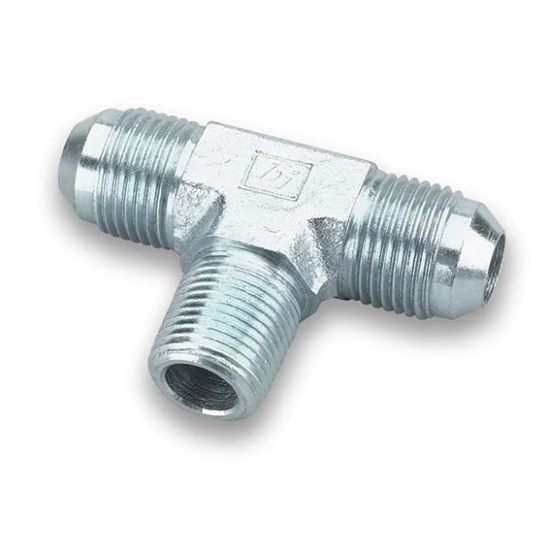 Earls 962503ERL -3 AN Male to 1/8 Inch NPT on Branch Tee Adapter, Zinc