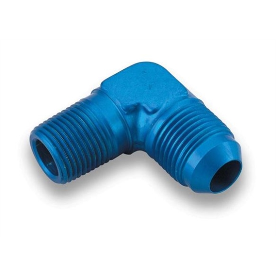 Earls 982206ERL Blue 90 Degree Elbow -6 AN Male to 1/4 Inch NPT