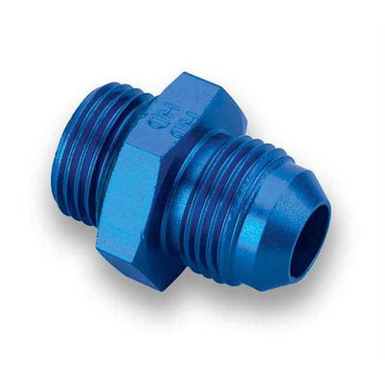 Earls 985012ERL Blue -12 AN Male to 1-1/16-12 Inch O-Ring Port Adapter