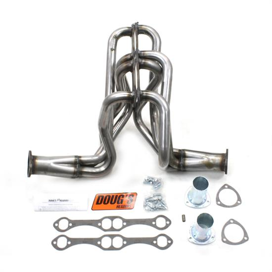 Doug's Headers D358-R Full Length Header, 1-5/8 In, 58-64 SBC, Raw