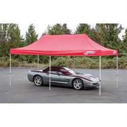 Longacre 20001 Pop-Up Racing Pit Canopy, 10 x 20 FT, Red