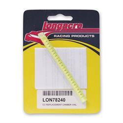 Longacre 78240 Replacement camber vial - 0-6 Deg. with Lines