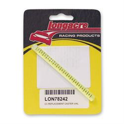 Longacre 78242 Replacement caster vial -4 Deg. - 12 Deg. with Lines