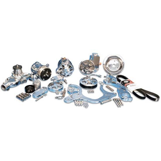 Eddie Motorsports MS107-55P Serpentine Pulley Kit, SBC, Polished
