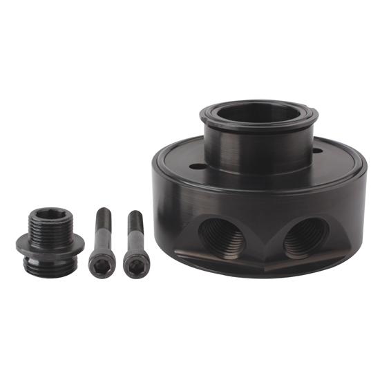 Sbc Oil Cooler : Moroso chevy oil filter adapter for cooler
