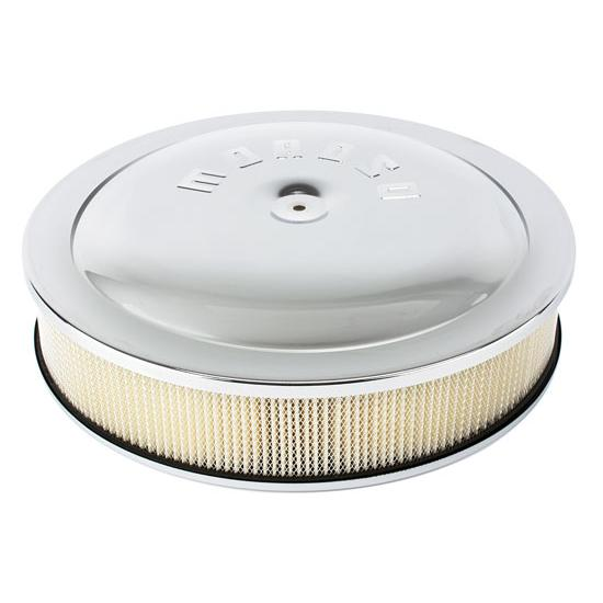 Holley Air Cleaner : Moroso chrome air cleaner for holley inch