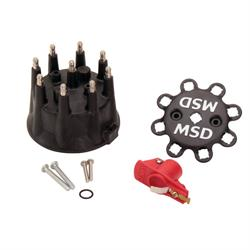 MSD 79193 Pro-Mag 12 LT Magneto Cap and Rotor, Black