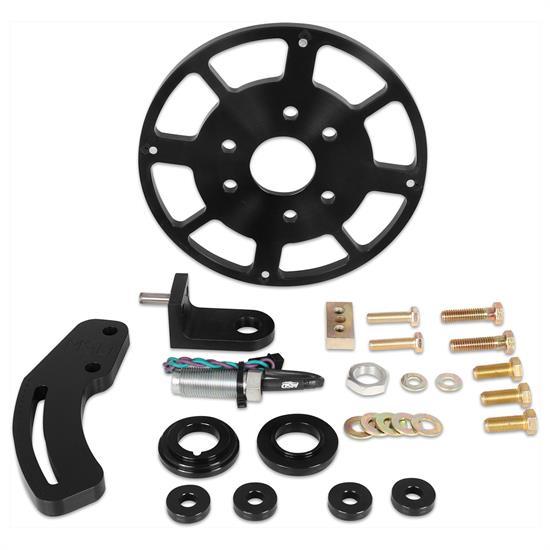 MSD 86153 Black 8 Inch Balancer Crank Trigger Kit, SBC