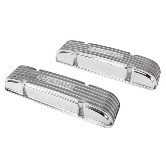 Offenhauser S/B Chevy Valve Covers, 55-59 Staggered, No