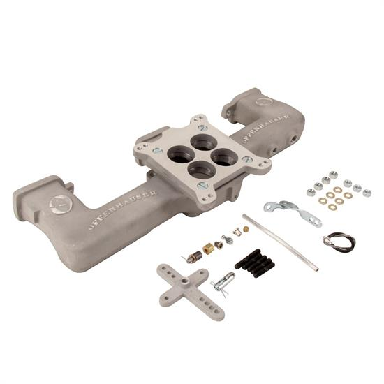 Offenhauser 5416 Single Quad Carb Intake Manifold Kit for GM L6