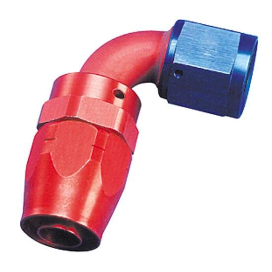 Fragola 109004 Hose End Coupler Fitting, 90 Degree, Blue/Red, -4 AN