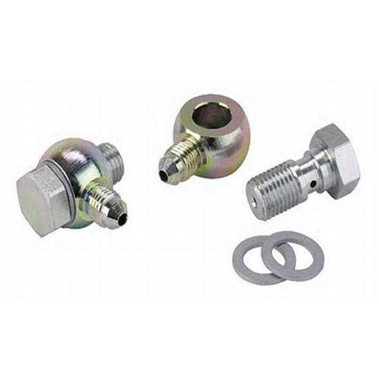 Banjo Brake Fitting Kit, 7/16-20 to -4 AN