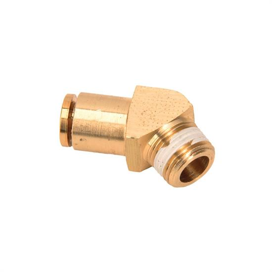 Air Suspension Tubing 45 Degree Elbow Fitting, 3/8 Inch NPT Male