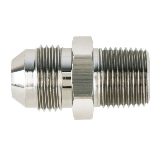 Nickel straight to aluminum pipe adapter fitting an