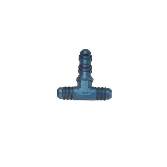 Aluminum Tee Bulkhead Fitting, -3 AN