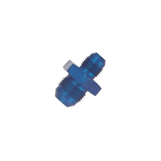 Aluminum Flare Reducer Adapter, Blue, -4 AN to -6 AN