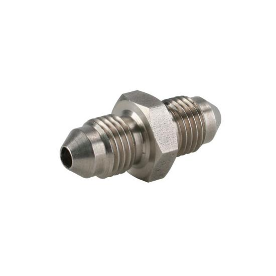 Stainless Steel Straight Adapter, -3 AN to -3 AN