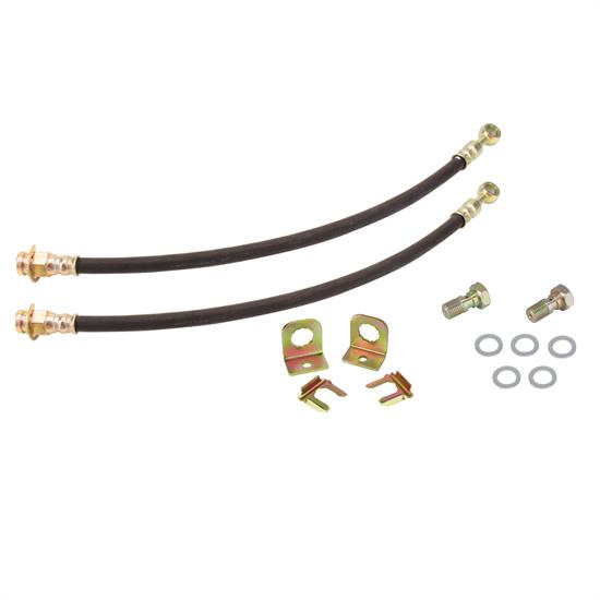 Rubber Front Brake Lines & Fitting Kit, 10mm-1.5