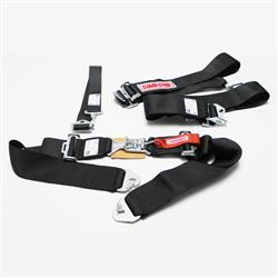 Garage Sale - Simpson 5-Point Harness Seat Belt Sets, Clip-In, Pull Down, Black