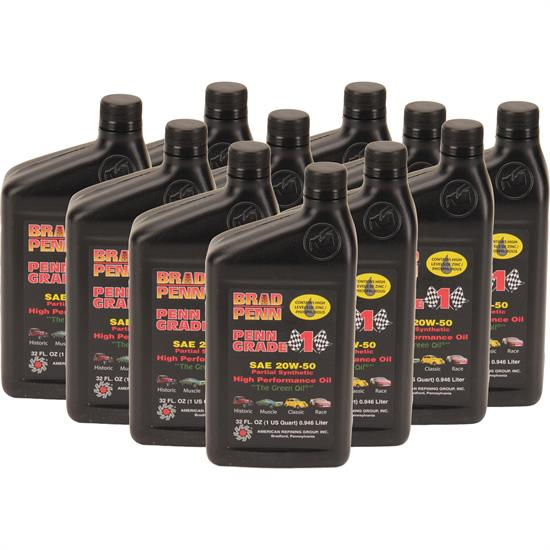 Brad penn 20w50 high performance engine oil 12 quarts for 20w50 motor oil temperature range