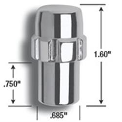 Gorilla Automotive 73671N 7/16-20  Mag Wheel Locks, 3/4 In Shank