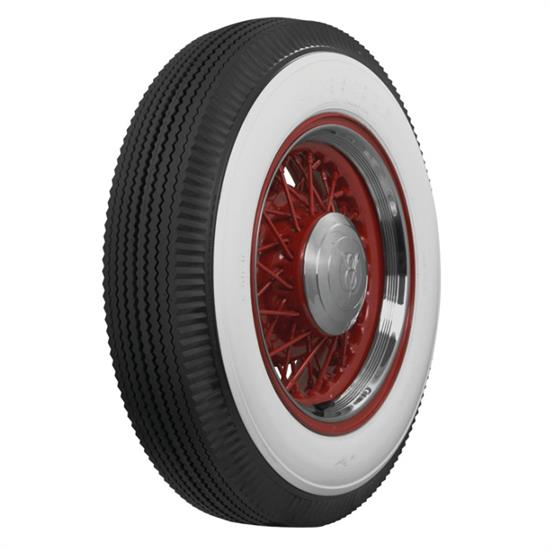 Coker Tire Firestone 3 In Whitewall Tire, Bias Ply, Non-Script 6.50-16