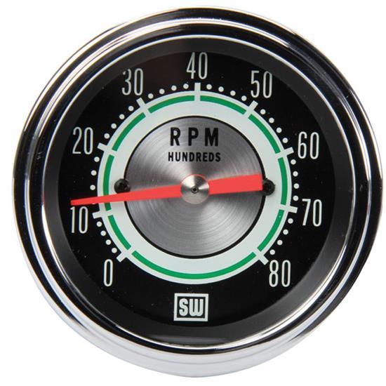 stewart warner 531cc green line 8 000 rpm tachometer 3 3 8 inch stewart warner 531cc green line 8 000 rpm tachometer 3 3 8
