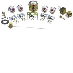 Stewart Warner 82226 Wings Five Gauge Set, Electric/Mechanical, White