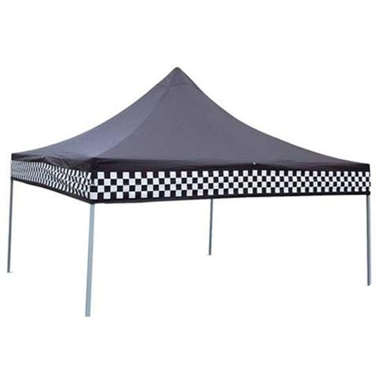 Portable Race Awnings : Speedway checkered flag pop up canopy
