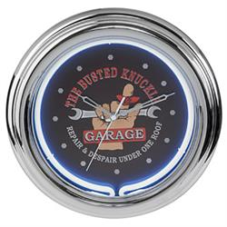 Busted Knuckle Garage BKG-76600 Neon Clock