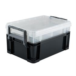 Titan Tools 21218 3-Way Stackable Storage Tote, 18 Inch