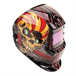 Titan Tools 41283 Skull/Wrench Solar Powered, Darkening Welding Helmet