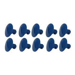 Plastic Large Head Quarter Turn Fasteners, .500 Inch Grip, Pack/10