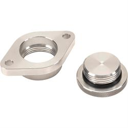 Bolt-On Billet Aluminum Engine Oil Filler Caps, Short