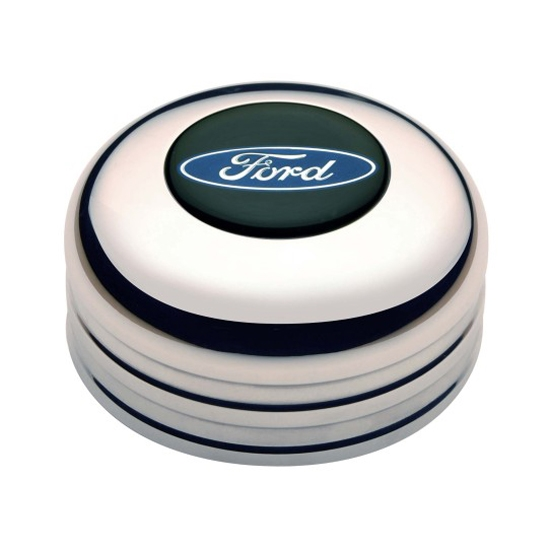 GT Performance 11-1021 GT3 Standard Ford Oval Horn Button Polished